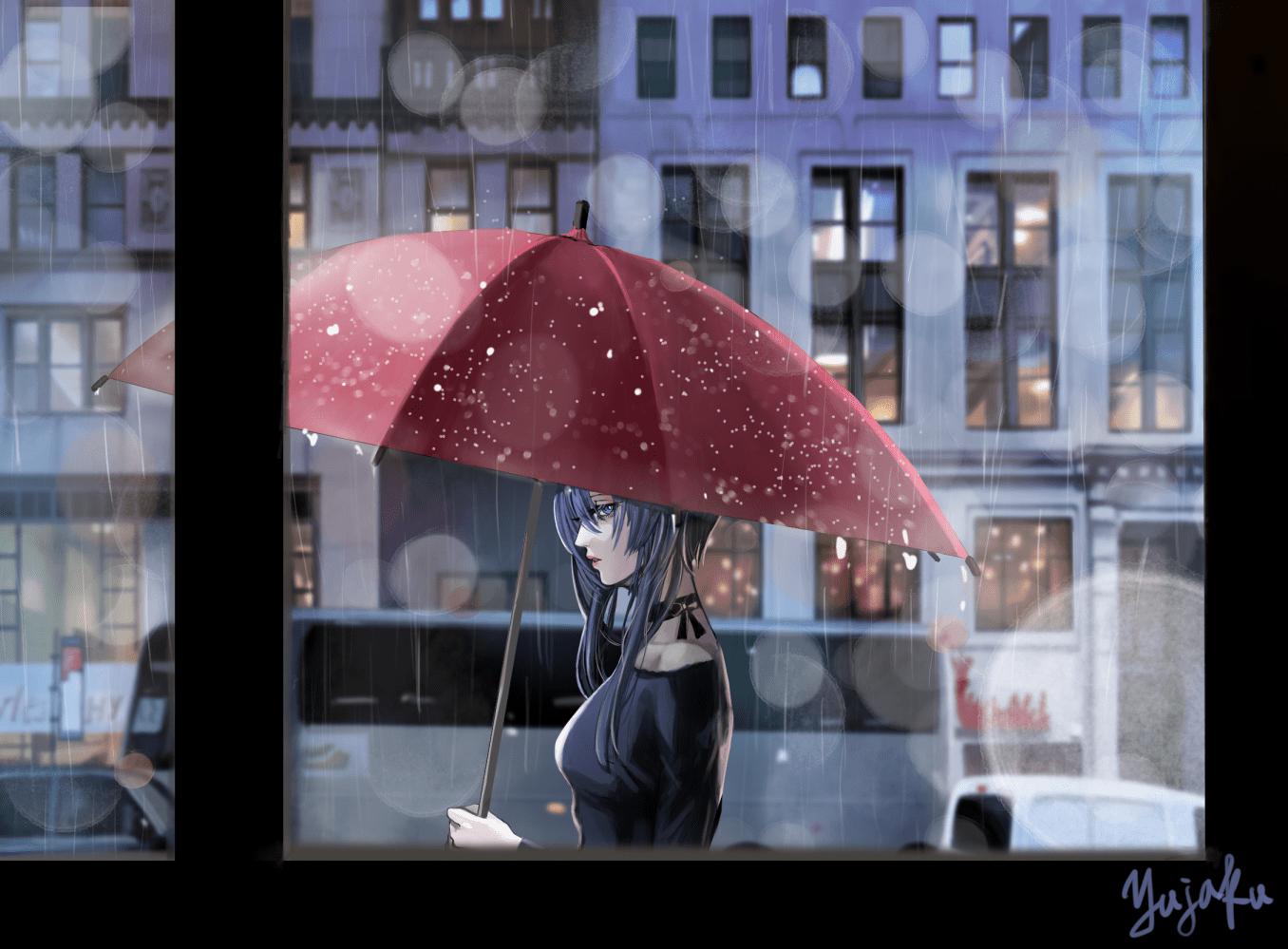 雨のイラスト