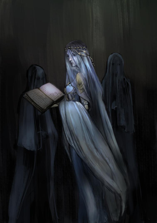 ベールの女性のイラスト